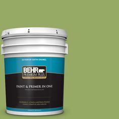 BEHR Premium Plus 5-gal. #420D-5 Herbal Garden Satin Enamel Exterior Paint