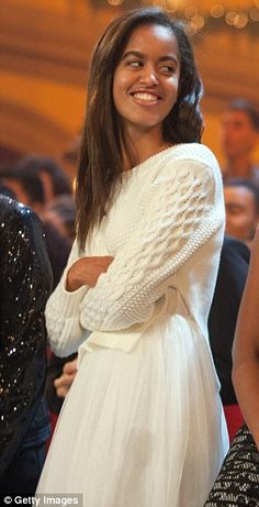 Malia Obama. Growing up right in front of us!