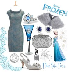 """Plus Size Pixie: Frozen"" by plussizepixie on Polyvore"