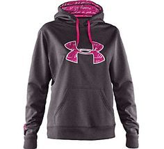 Another top seller. Keeps you warm and dry. | Under Armour® Women's PIP Armour® Fleece Storm Big Logo Hoody #scheels