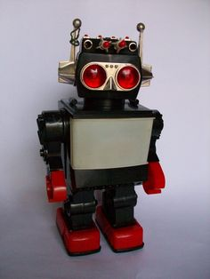 Toy Robot   Vintage and Retro Space Age Raygun, Rocket and Robot Toys   Sugary.Sweet   #SpaceAge #Toy #Robot #SciFi