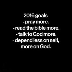 This is truly my goal in 2016
