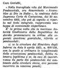 Lettera dell'avv. delle A.D.I. Giacomo Rosapepe a Umberto Gorietti (1954) È molto interessante leggere questa lettera per il prezioso commento che l'avvocato delle ADI Rosapepe fa dell…