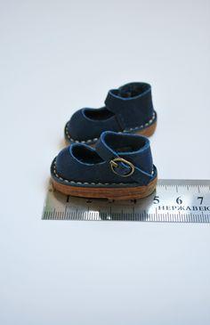 zapatos antelina azul