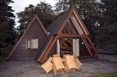 A Frame Lodge, Clowance Park, Praze an Beeble