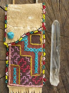 Ayahuasca shipibo medicine pouch.