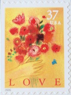 2005 37c Bouquet Love Scott 3898 Mint F/VF NH  www.saratogatrading.com