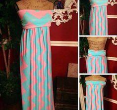 Gender reveal party dress maternity pink blue chevron zig zag on Etsy, $75.00