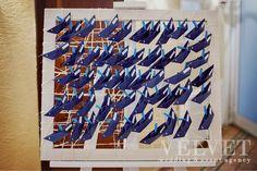 Морская свадьба Андрея и Анны. Карта рассадки с корабликами, которые гости могут оставить себе в качестве сувенира