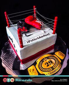 #MiercolesDeGaleria  Box   Festeja al campeón de la casa con un delicioso pastel de fondant.  #pastel #fondant #fondantcake #box #boxing #ringdebox