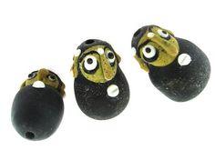#Beads - Bearded Glass Face Bead - Pendant 32mm . Shop here: http://happymangobeads.com/bearded-glass-face-bead-pendant-32mm-cb443/) #happymangobeads