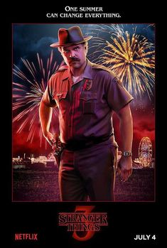 Netflix has released 14 Stranger Things Season 3 character posters ahead of the season premiere. The series returns to Netflix on July Stranger Things Netflix, Serie Stranger Things, Hopper Stranger Things, Stranger Things Merchandise, Stranger Things Characters, Stranger Things Aesthetic, Stranger Things Season 3, 3 Characters, David Harbour Stranger Things