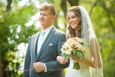 Beautiful picture of father and daughter walking down isle!