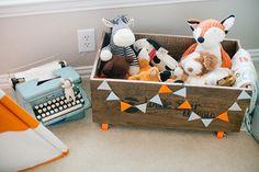 An Orange Striped Teepee Bright Nursery, Teal Nursery, Fox Nursery, Nursery Room Decor, Nursery Neutral, Nursery Design, Boy Room, Kids Room, Blog Bebe