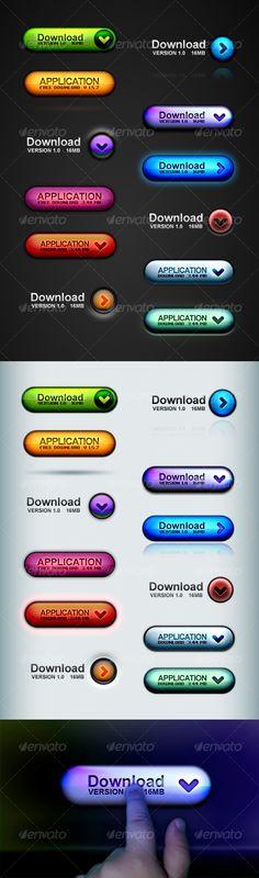 Web 2.0 Button Set Pro