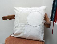 Housse de coussin toile vintage avec par UnChatsurleToit.Etsy.com