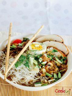 Vegetable Ramen Noodles Soup