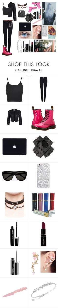 """""""Death note oc"""" by gglloyd ❤ liked on Polyvore featuring Fujifilm, Topshop, Armani Jeans, Dr. Martens, Handle, Hello Kitty, Yves Saint Laurent, Felony Case, WithChic and Marc Jacobs"""