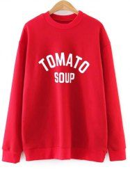 Oversized Tomato Soup Sweatshirt