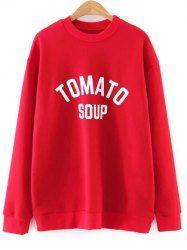 Oversized Tomato Soup Sweatshirt
