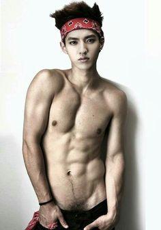 Hot Asian Men, Asian Boys, Top Male Models, 6 Pack Abs, Korean Boys Ulzzang, Hot Teens, Asian Hotties, Kris Wu, Shirtless Men