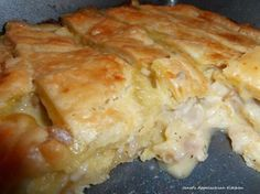 Mama's Chicken Pie Recipe (But make C of Ch soup from scratch and pie crust)