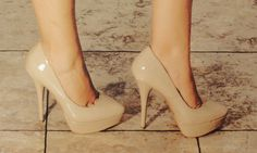 Nude pumps are essential.