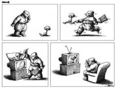 Adoro esta! Trabalho do cartunista israelense Mana Neyestani.