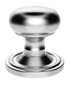 Victorian Mushroom Mortice Door  Knobs (Concealed Fix), Satin Chrome - M35CSC None
