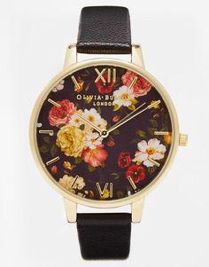 Olivia Burton | Olivia Burton Winter Garden Floral Oversize Dial Watch at ASOS