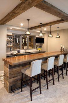 Basement Remodeling Decor Home Improvement – Basement İdeas 2020 Basement Bar Designs, Basement Layout, Home Bar Designs, Basement House, Basement Kitchen, Basement Bathroom, Basement Ideas, Rustic Basement Bar, Bar For Basement