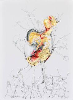 "Saatchi Art Artist Boicu Marinela; Drawing, ""SACRAL&UNHOLY"" #art"