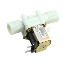 """Electric Solenoid Valve Magnetic DC 12V N/C Water Air Inlet Flow Switch 1/2"""" New"""