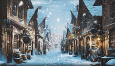 Winter in Diagon Alley. From the old PM. (Anyone else miss the old Pottermore?)