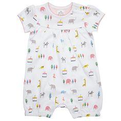 086c3e6769d4 Buy John Lewis Baby Animal Short Romper Playsuit