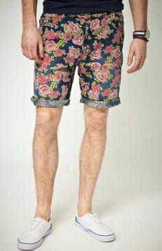 Mens floral print shorts