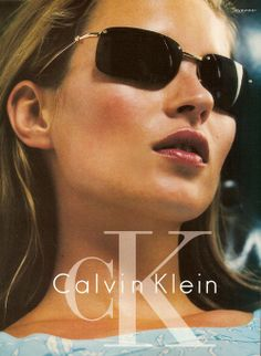 Kate Moss for Calvin Klein eyewear spring 1997