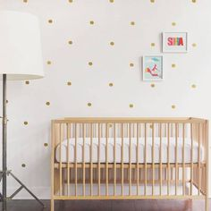 Mini Dots Wall Decal - Gold