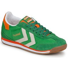 Brightly coloured trainers are all the rage this season, like this pair from Hummel! #shoes #trainers #sneakers #greenshoes #fashion #womens #autumn