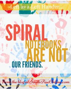 Life as a Left-Hander tip - Spiral notebooks are not your friend #lefthandedproblems #southpaw