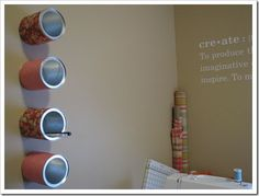 I have so many empty formula cans...these ideas are so great!