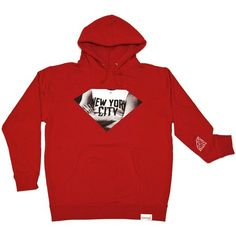 Diamond New York City Pullover Sweatshirt in Red