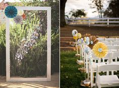 Decorar tu boda con molinillos de papel