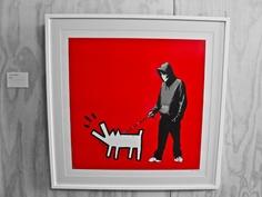 Banksy + Keith Haring : 2 decades apart but still geniuses!