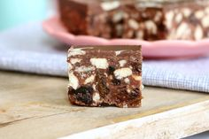 Melt & Mix Chocolate Hedgehog Slice - I love my nut-free version but you can also add any nuts you like. Pecans and walnuts work really well. This is a no-bake recipe so it's really quick and simple. Definitely a family favourite! | Bake Play Smile