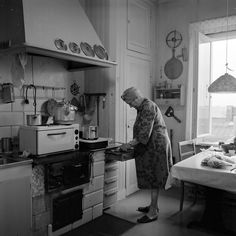Köksinteriör på Tomtebogatan 48, 1973. Fotograf: Stefan Hasselberg