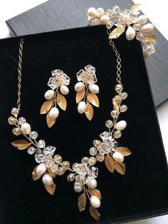 Wire wrapped jewelry handmade necklace earrings by FlowerRainbow, $119.99