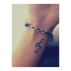 Treble clef wrist tattoo   Tattoos ❤ liked on Polyvore featuring accessories, body art, tattoos, tatoos, tattoos and piercings and pictures