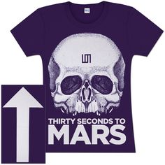 Need this one. Thirty Seconds to Mars - White Skull Ladies Cut T-Shirt https://30secondstomars.livenation.spottrot.com/?product_uid=30CT115
