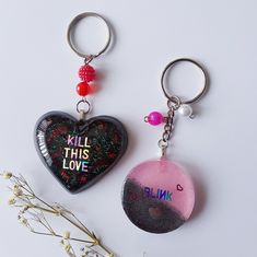 Items similar to Blackpink Resin Keychains on Etsy V Wings, Clay Keychain, Diy Crafts For Girls, Teen Crafts, Kpop Diy, Diy Resin Crafts, Resin Charms, Circle Shape, Acrylic Beads
